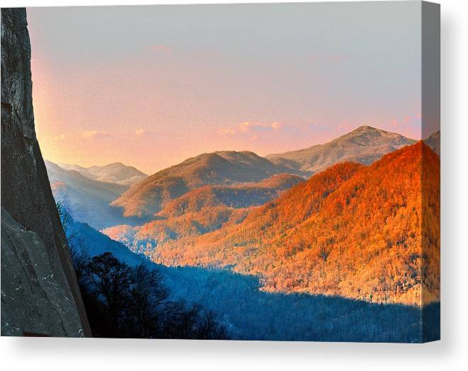 Landscape Canvas Print featuring the photograph View From Chimney Rock-north Carolina by Steve Karol