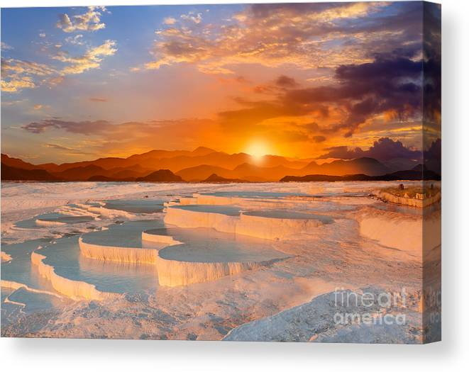 Sunrise Canvas Print featuring the photograph Beautiful Sunrise And Natural by Muratart