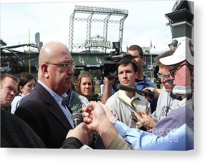 People Canvas Print featuring the photograph Minnesota Twins V Seattle Mariners by Otto Greule Jr
