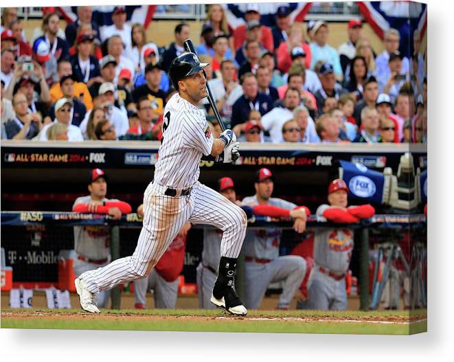 American League Baseball Canvas Print featuring the photograph 85th Mlb All Star Game 8 by Rob Carr