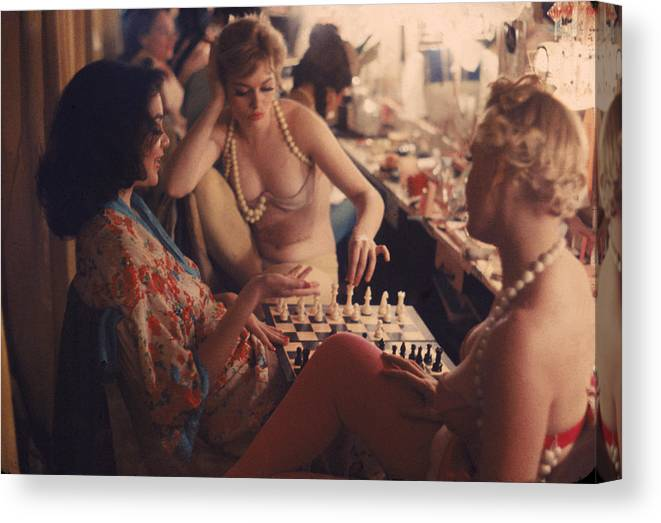 Latin Quarter Canvas Print featuring the photograph Backstage At The Latin Quarter by Gordon Parks