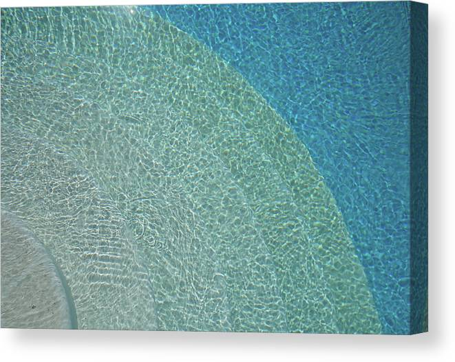 Tranquility Canvas Print featuring the photograph Swimming Pool by Rolfo