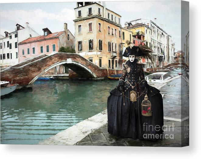 Carnival Canvas Print featuring the photograph Venice Setting by Linda D Lester