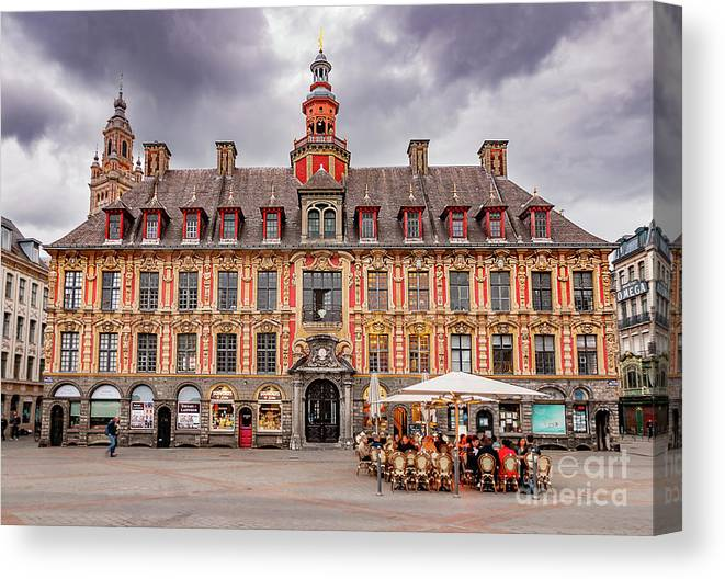 Europe Canvas Print featuring the photograph Vieille Bourse Lile by Paul Hennell