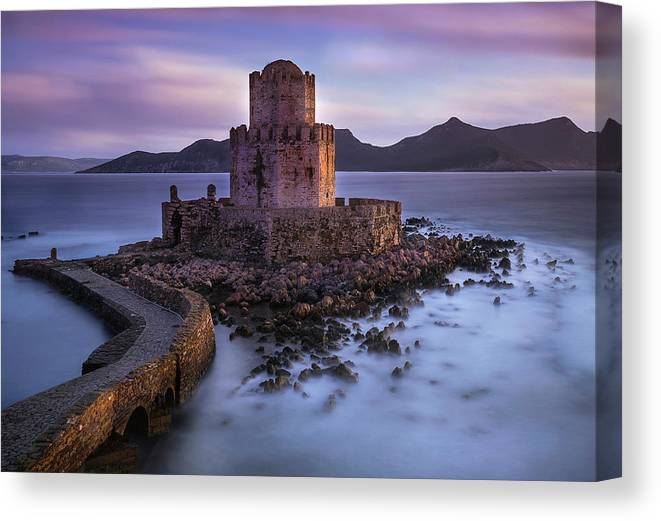 Castle Canvas Print featuring the photograph Whispers Of The Past by Dora Artemiadi