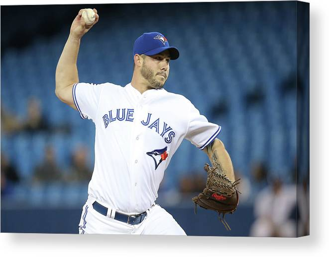 Second Inning Canvas Print featuring the photograph Jay Rogers by Tom Szczerbowski