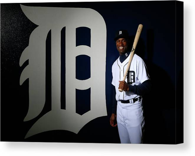 Media Day Canvas Print featuring the photograph Austin Jackson by Kevin C. Cox