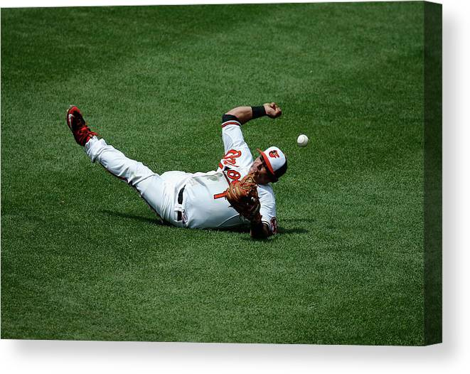 People Canvas Print featuring the photograph Everth Cabrera And Gordon Beckham by Rob Carr