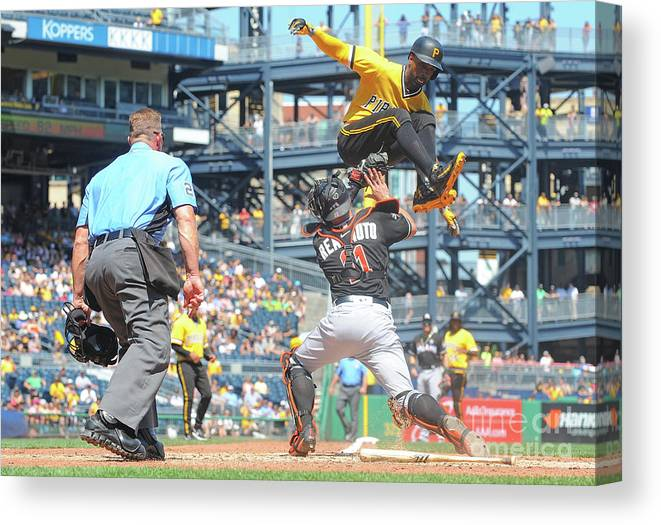Event Canvas Print featuring the photograph J. T. Realmuto by Justin Berl