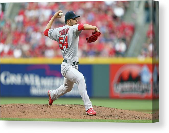 Great American Ball Park Canvas Print featuring the photograph Jaime Garcia by Andy Lyons