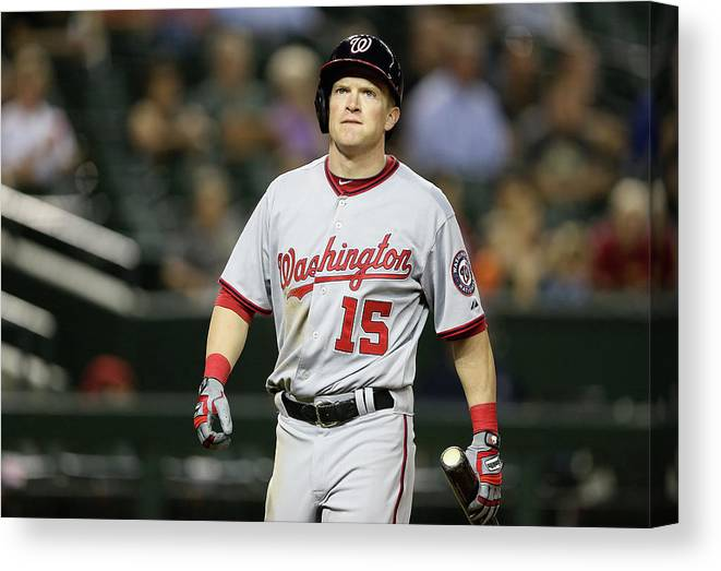 National League Baseball Canvas Print featuring the photograph Nate Mclouth by Christian Petersen