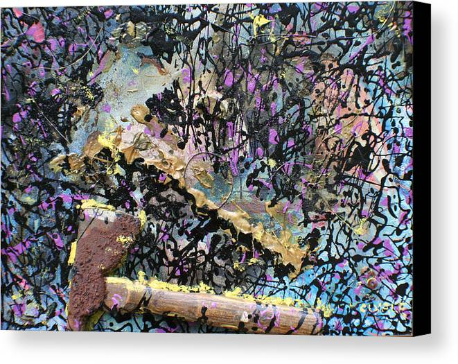 Canvas Print featuring the painting Accetta Caduta by Biagio Civale