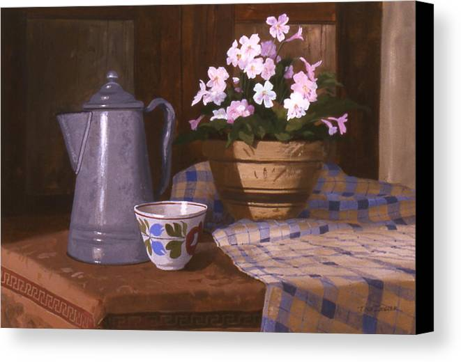 Antiques Canvas Print featuring the painting Attic Treasures by Faye Ziegler