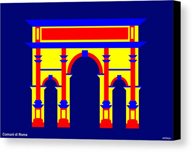 Canvas Print featuring the digital art Septimus Severus by Asbjorn Lonvig