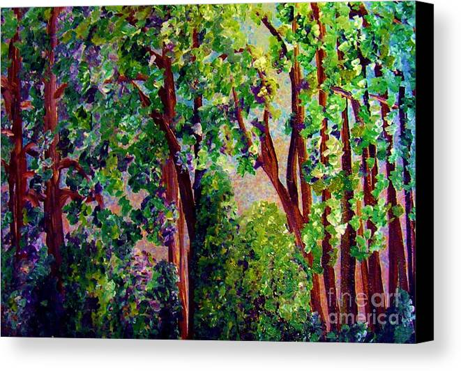 Tree Canvas Print featuring the painting Gentle Breeze by Eloise Schneider Mote