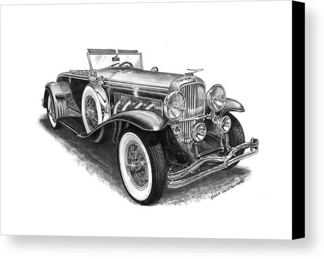 Classic Cars Canvas Print featuring the photograph 1930 Duesenberg Model J by Jack Pumphrey
