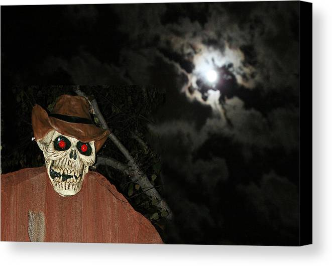 Fright Night Canvas Print featuring the photograph Fright Night 1 by Ellen Henneke