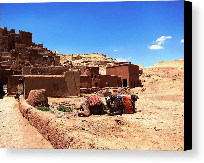 Morocco Canvas Print featuring the photograph Ait Ben Haddou 10 by Teresa Ruiz