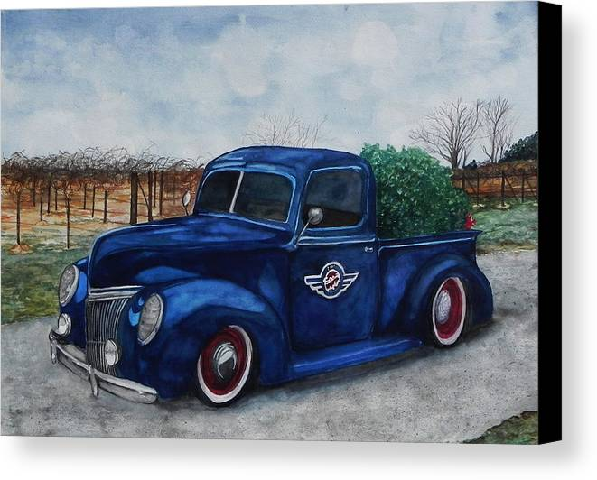 Truck Canvas Print featuring the painting Baxter Truck by Stacey Pilkington-Smith