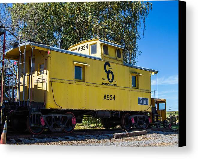 Railroad Canvas Print featuring the photograph C And O Railroad Car by Anthony Thomas