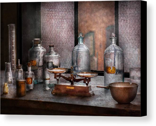 Hdr Canvas Print featuring the photograph Chemist - The Art Of Measurement by Mike Savad