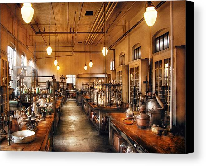Savad Canvas Print featuring the photograph Chemist - The Chem Lab by Mike Savad