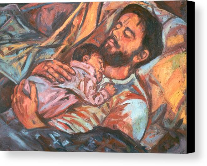 Figure Canvas Print featuring the painting Clyde And Alan by Kendall Kessler