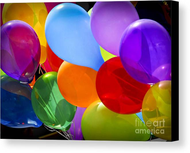 Balloons Canvas Print featuring the photograph Colorful Balloons by Elena Elisseeva