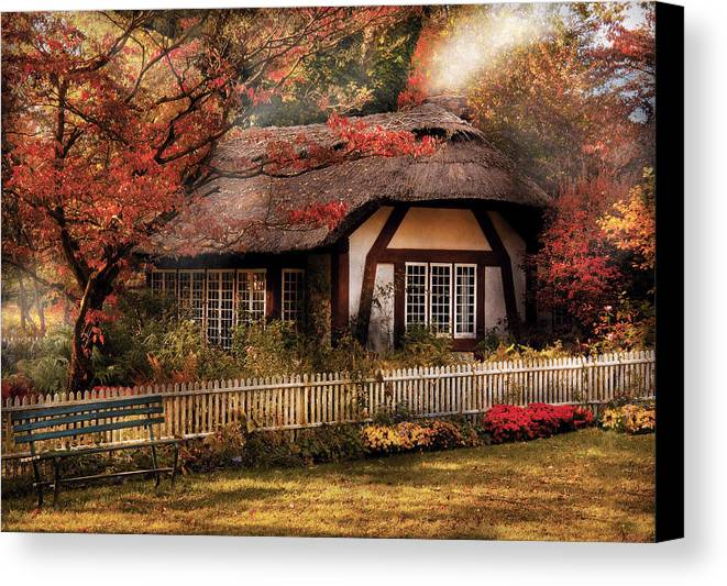 Savad Canvas Print featuring the photograph Cottage - Nana's House by Mike Savad