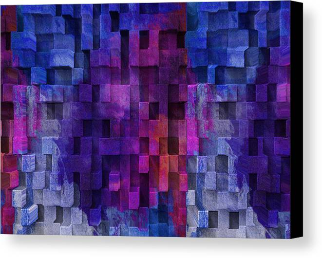 Abstract Canvas Print featuring the digital art Cubed 2 by Jack Zulli