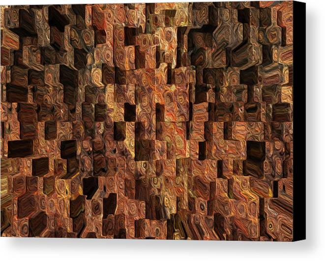 Abstract Canvas Print featuring the painting Cubed by Jack Zulli