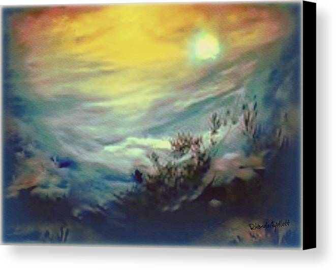 Dreamscape Canvas Print featuring the mixed media Dreaming by YoMamaBird Rhonda