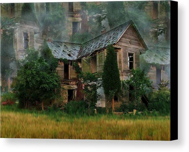 Abandoned House Canvas Print featuring the photograph Faded Dreams by Julie Dant