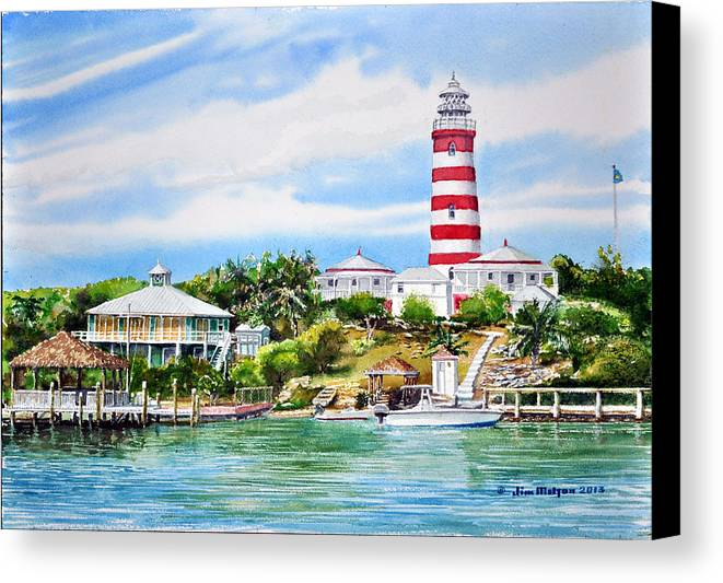 Light House Canvas Print featuring the painting Favorite Anchorage by Jim Melton