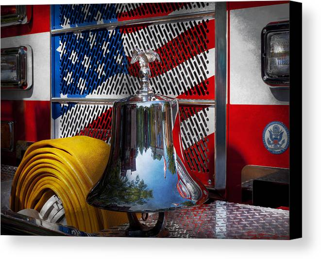 Fire Canvas Print featuring the photograph Fireman - Red Hot by Mike Savad