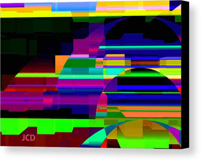 Montage Canvas Print featuring the digital art Geometric Dream by Jean-Claude Delhaise