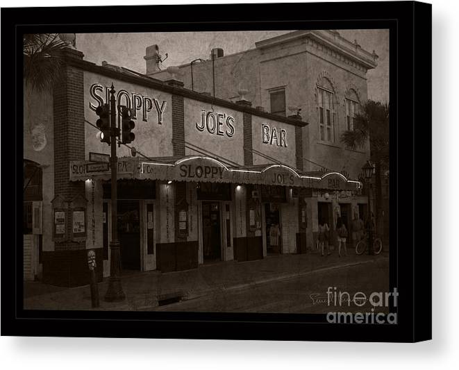 Sloppy Joes Bar Canvas Print featuring the photograph Hemingway Was Here by John Stephens