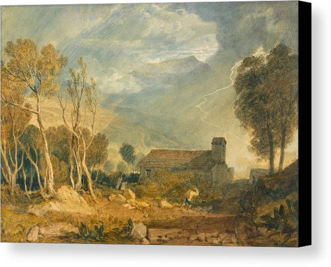 1810 Canvas Print featuring the painting Ingleborough From Chapel-le-dale by JMW Turner