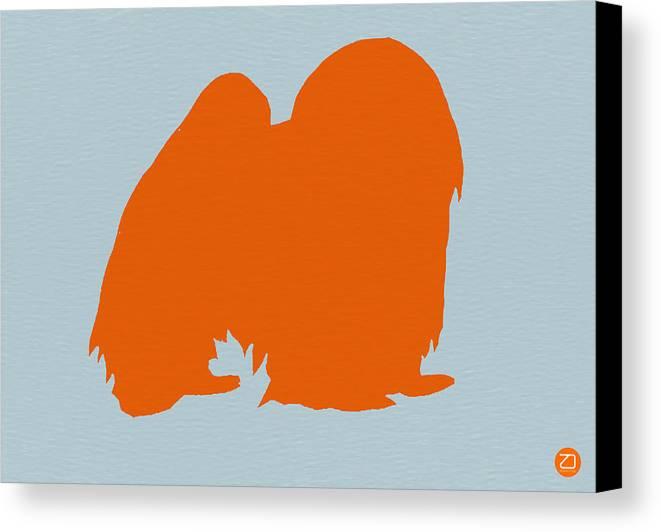 Japanese Chin Canvas Print featuring the photograph Japanese Chin Orange by Naxart Studio