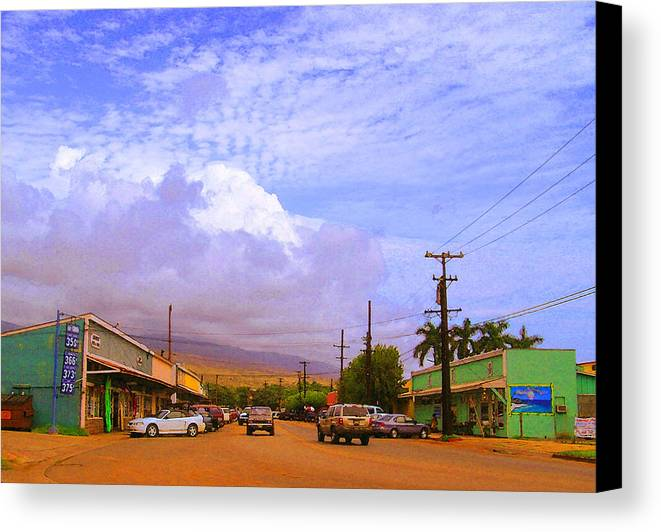 Kaunakakai Canvas Print featuring the photograph Main Street Kaunakakai by James Temple