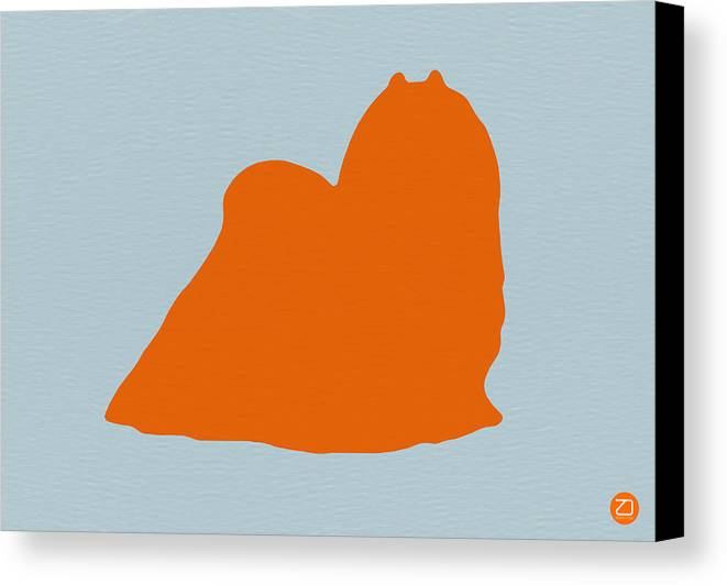 Maltese Canvas Print featuring the photograph Maltese Orange by Naxart Studio