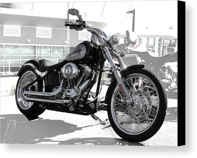 Bike Canvas Print featuring the photograph Motorbike by Michael Podesta