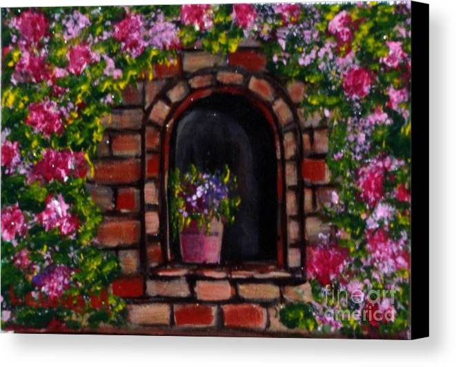 Rose Canvas Print featuring the painting Rosary by Laurie Morgan