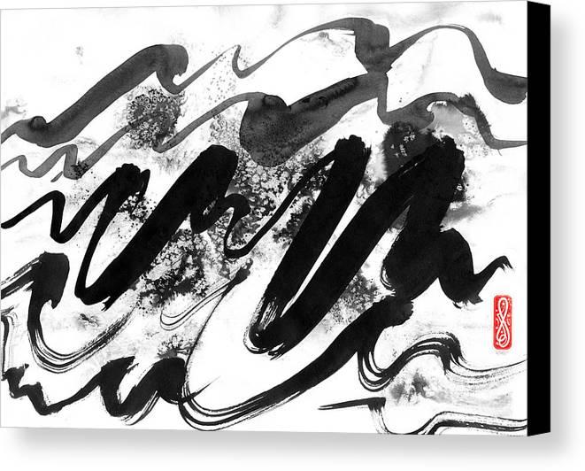 Hakon Canvas Print featuring the painting Snowy Landscape by Hakon Soreide