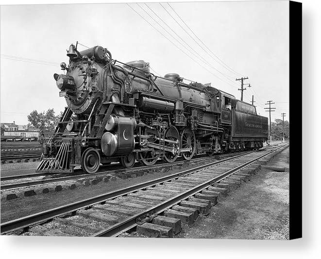 Locomotive Canvas Print featuring the photograph Steam Locomotive Crescent Limited C. 1927 by Daniel Hagerman
