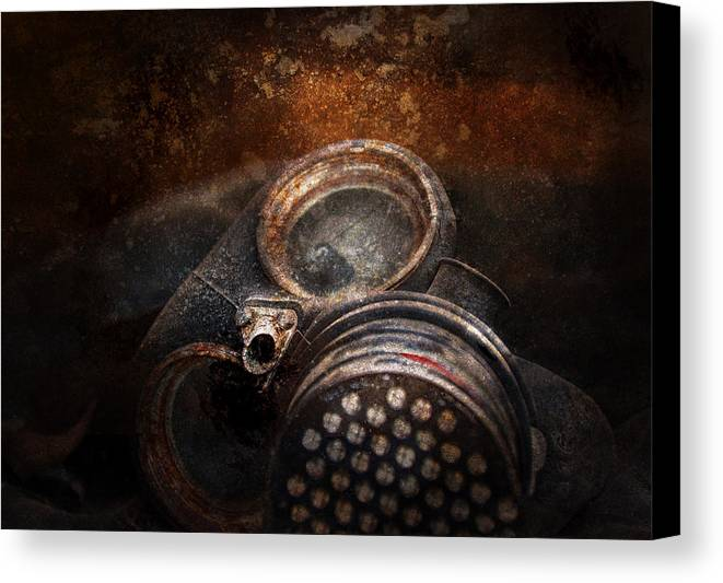 Hdr Canvas Print featuring the photograph Steampunk - Doomsday by Mike Savad