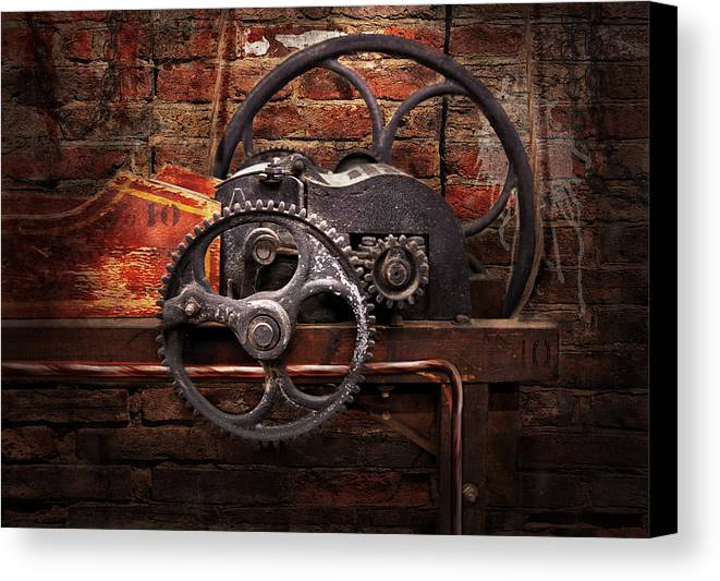 Hdr Canvas Print featuring the digital art Steampunk - No 10 by Mike Savad
