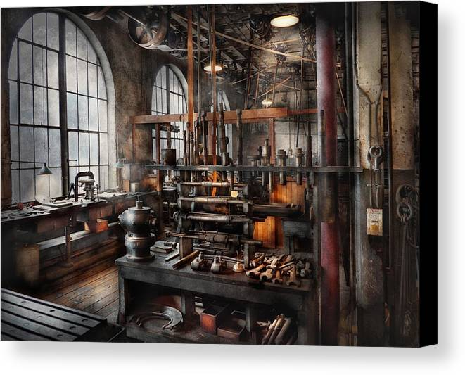 Steampunk Canvas Print featuring the photograph Steampunk - Room - Steampunk Studio by Mike Savad