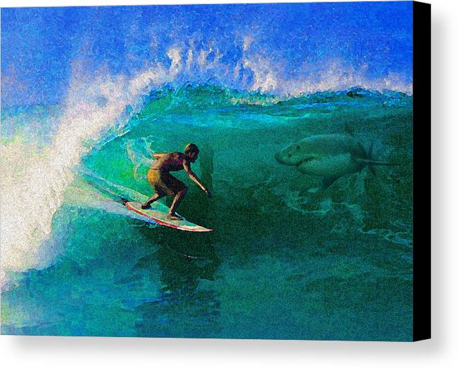 Hawaii Iphone Cases Canvas Print featuring the photograph Surfs Up by James Temple