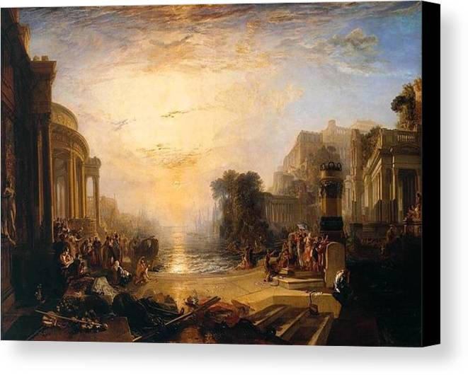 1817 Canvas Print featuring the painting The Decline Of The Carthaginian Empire by JMW Turner